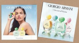 "CC Carte Parfumée ""ARMANI AQUA Di GIOIA & GIOIA LIGHT"" Perfume U Rabat 5x5 1 Ex.! - Modern (from 1961)"
