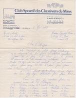 BOXE - LETTRE CLUB SPORTIF DES CHEMINOTS DU MANS - COMBAT  AMATEUR A ALENCON 61 ORNE - Autres