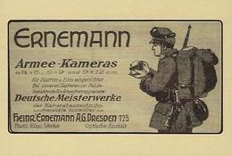 ERNEMANN  ARMEE-KAMERAS   2 Scans - Reklame