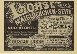 LOHSE'S MAIGLÖCKCHEN-SEIFE   2 Scans - Reklame