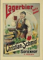 LAGERBIER  Christian Schmid  Sofienhof   2 Scans - Reklame