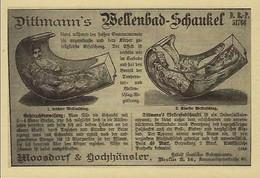 DITTMANN'S  WELLENBAD-SCHAUKEL   2 Scans - Reklame
