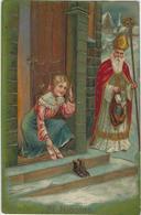 SINTERKLAAS, SINT NIKLAAS, CARTE GAUFFREE, KAART IN RELIEF, ANNO 1905 - Fêtes - Voeux