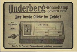UNDERBERG - DER BESTE LIKÖR IM FELDE   2 Scans - Reklame