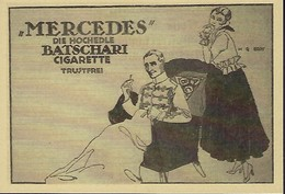 MERCEDES  Die Hochedle BATCHARI CIGARETTE   2 Scans - Reklame