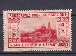 Timbre Erinnophilie   SOUSCRIVEZ POUR LA BASILIQUE De Sainte Thérèse De L'enfant-Jésus - Erinnophilie