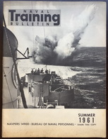 American US Army Naval Training Bulletin Summer 1961 - Naval Institute - Forces Armées Américaines