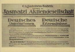 CIGARETTEN-FABRIK  JASMATZI  AKTIENGESELLSCHAFT   2 Scans - Reklame