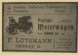 PATENT MOTORWAGEN   2 Scans - Reklame