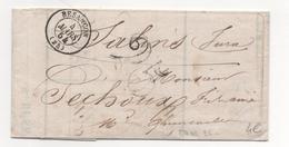 Lettre-facture E.MANSION Taxée 25décimes De Besançon à Salins Du 4/03/1854 - Marcophilie (Lettres)