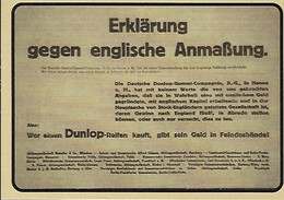 ERKLÄRUNG GEGEN ENGLISCHE ANMASSUNG  2 Scans - Reklame