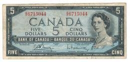 Canada 5 Dollars 1954, F+ - Canada