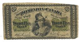 Dominion Of Canada 25 Cents 1870, F. - Canada