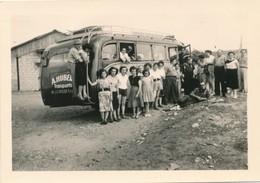 Snapshot 1952 Pareloup Barrage Du Levezou Autocar Bus Transport Hubert Autobus - Automobiles