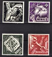 MONACO 1953 - SERIE Y.T. N° 51 A 54 NEUFS** / 4 - Poste Aérienne