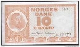Norway 10 Kronen 1973 P31f  XF+ - Norvegia