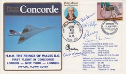 CONCORDE Pli Transporté Signé - Concorde