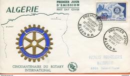 "Algérie/France ; FDC 1955 "" Rotary International  "" Alger RP - Algerije (1924-1962)"
