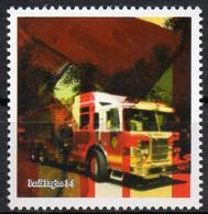 Gummed Cinderella - Label - Fire Brigade And Firefighters Pompiers Bomberos Feuerwehr- Labels - Vignettes - Trucks - Trucks