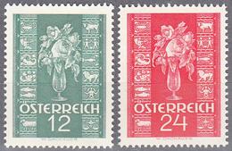 AUSTRIA   SCOTT NO. 388-89      MNH     YEAR  1937 - Unused Stamps