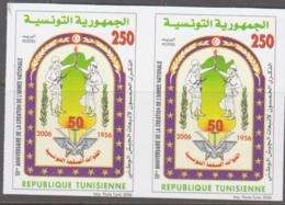 TUNISIA - 2006- ARMY 250F IMPERFORATE PAIR MINT NEVER HINGED - Tunisia