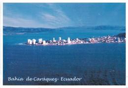 Equateur Bahia De Caraquez Vista Aereade La Ciudad Y El Estuario (2 Scans) - Equateur