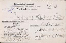 Bataillon De Vitriés Censure FR NR 19945 Berlin Bat III Prisonnier Français Volontaires Réparation Villes Bombardées - Briefe U. Dokumente
