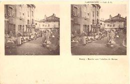 Bourg Marché Aux Volailles De Bresse (cartoscope, Carte 2 Vues Pour Vue 3D) - Bourg-en-Bresse