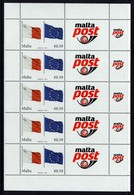 SALE!!! RARE!!! MALTA 2014 10 Anniv. In The EU Sheetlet 5 Stamps + 5 Vignettes MNH ** Europa Sympathy Mitläufer - European Ideas