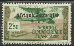 AFRIQUE EQUATORIALE FRANCAISE - AEF - A.E.F. - 1940 - YT PA 15** - VARIETE DE SURCHARGE - A.E.F. (1936-1958)