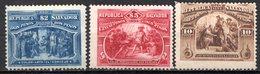 SALVADOR - (République) - 1894 - N° 88 à 90 - (Lot De 3 Valeurs Différentes) - (Christophe Colomb) - El Salvador