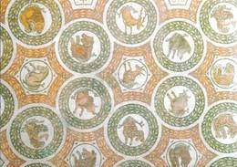Tunisie Musée Du Bardo Détail Mosaïque Des Avant Trains D'animaux Sauvages (2 Scans) - Tunesië