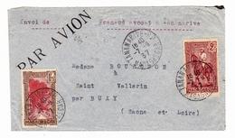 Lettre 1937 Tananarive Antananarivo Madagascar Frenaud Avocat Buxy Sâone Et Loire - Lettres & Documents