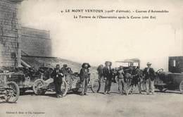 CPA LE MONT VENTOUX ( 1908m D'altitude ) - Courses D' Automobiles - La Terrasse De L'Observatoire Après La Course - France