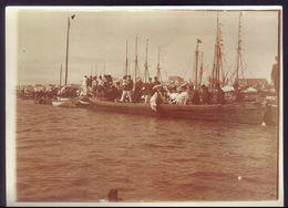 1900s Fotografia Antiga: REGATAS / Festa No MONDEGO / FIGUEIRA Da FOZ. Old Photo Sepia (Coimbra) PORTUGAL 1900s - Fotos