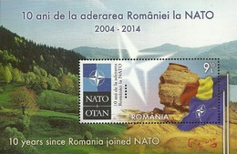 SALE! RUMANIA ROMANIA ROUMANIE RUMÄNIEN 2014 10 Anniv. In NATO S/S Souvenir Sheet MNH** Europa Sympathy Mitläufer - Idee Europee