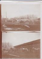 Foto Deutsches Zeltlager - Fuhrwerk - Werschetz - Serbien - Doppelfoto - 1. WK - 11,5*8,5cm  (42691) - War, Military