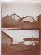 Foto Deutsches Materiallager - Bahnhof - Werschetz - Serbien - LKW Bahn - Doppelfoto - 1. WK - 11,5*8,5cm  (42692) - Krieg, Militär