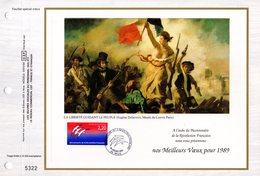 """"""" BICENTENAIRE DE LA REVOLUTION FRANCAISE """" Sur Feuillet CEF. N° YT 2560. Parfait état - Franz. Revolution"""