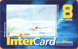 "Antilles (French) - DAU-REF-047, InterCard, Antoine Chapon ""Marigot Morning"", St Martin & St Barth. 8 €, 5.000ex, Used - Antillen (Frans)"