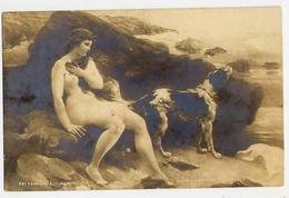 Donnina - Con Cane - - A Laslyre - Dans Les Roches Se Carteret - Formato Piccolo Non Viaggiata - E 13 - Donne