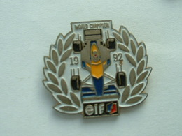 PIN'S F1 - ELF RENAULT - WORLD CHAMPION 1992 - F1