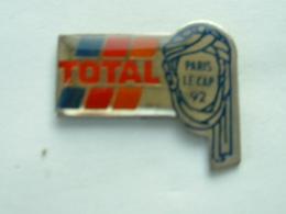 PIN'S TOTAL - PARIS LE CAP 92 - Rallye