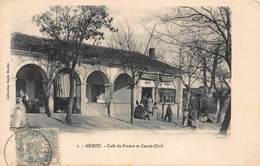 CPA AKBOU - Café De France Et Cercle Civil - Bejaia (Bougie)