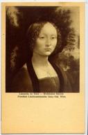 Wien - Leonardo Da Vinci - Welbliches Bildnis Puratlich Liechtenstelnsche Gem. Gal. - Formato Piccolo Non Viaggiata – E - Cartoline