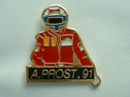 PIN'S F1 - ALAIN PROST 91 - MARLBORO - F1