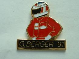 PIN'S F1 - G.BERGER 91 - MARLBORO - F1
