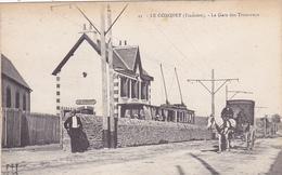 Cpa -29-le Conquet-animée-la Gare Des Tramways-caleche-edi .... N°45 - Le Conquet