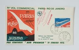 75 PARIS    1er VOL COMMERCIAL PAR CONCORDE - FDC