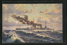 AK Kriegsschiff S.M.S. Von Der Tann Auf Hoher See - Guerra